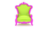 Luxury modern green chair in a pink frame 2 poster