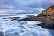 Mer houleuse sur littoral réunionnais