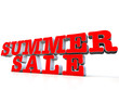 Summer Sale 3d over white background