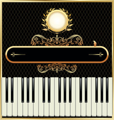 Elegant piano background