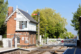 railway museum and railway station, Heckington, East Midlands poster