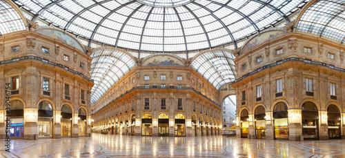 Leinwanddruck Bild Milan, Vittorio Emanuele II gallery, Italy