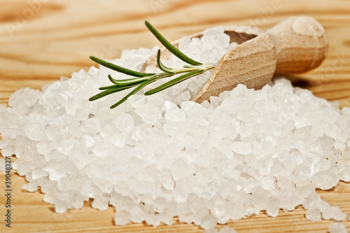 edible herbal salt close up