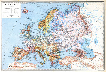 The old planispheric map of Europe