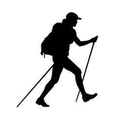 backpacker vector illustration
