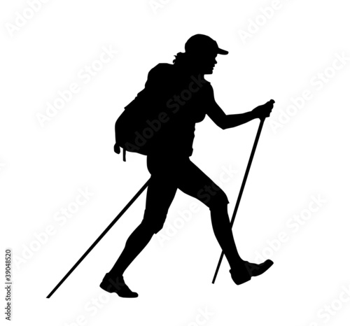 backpacker vector illustration