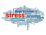 """STRESS"" Tag Cloud (noise workplace anxiety depression insomnia)"