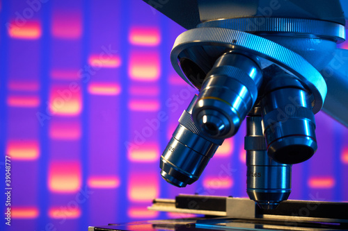 Close up of laboratory microscope - 39048777
