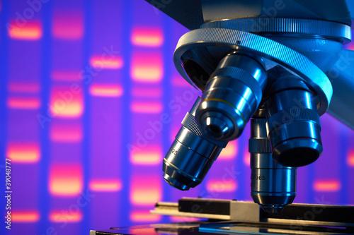 Leinwandbild Motiv Close up of laboratory microscope