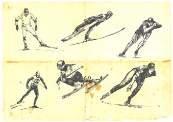 a large collection of winter sports