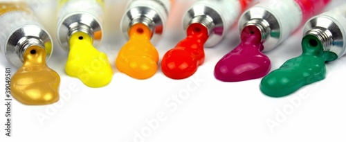 Color paints - macro