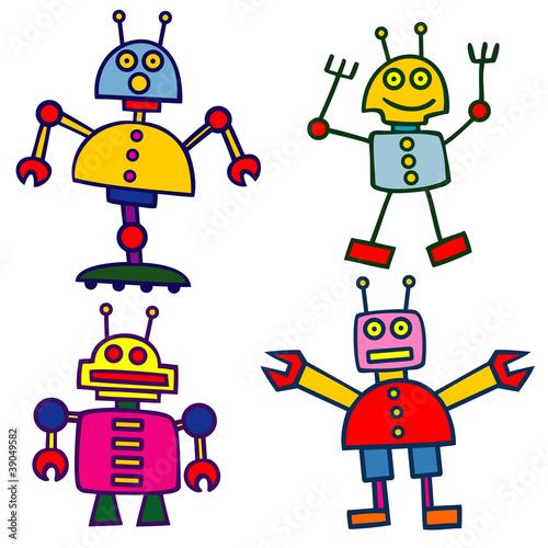 Tuinposter Robots robots