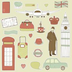 London travel icons