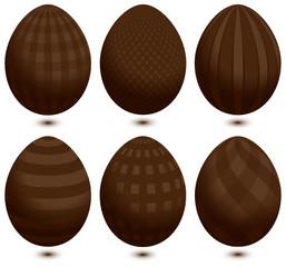 Set 6 Easter Eggs Chocolat