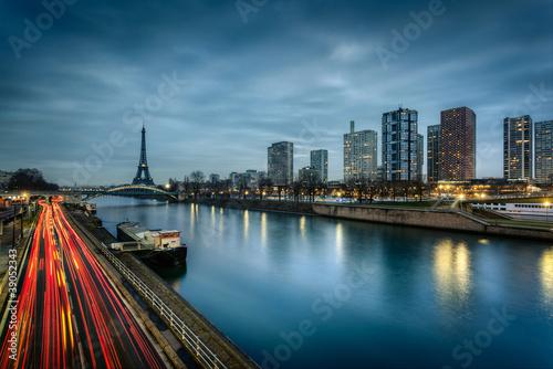 Paris immeubles modernes Poster