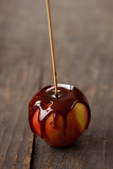 Taffy apple on a stick