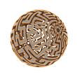 Kugel Labyrinth mit Tiefenunschärfe