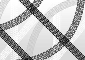 Tire tracks creative illustration background vector