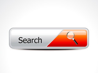 abstract glossy search button
