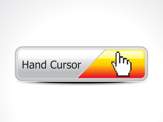 abstract hand cursor web button