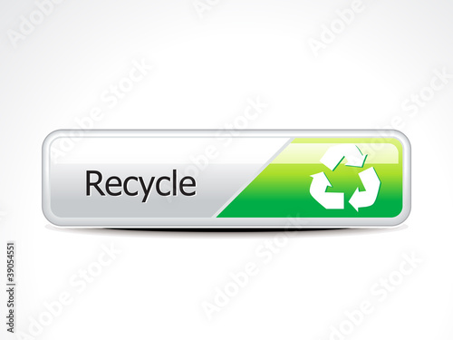 abstract recycle web  button