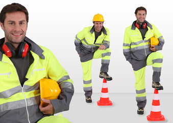 Traffic security worker