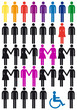 diversity, vector people icon set