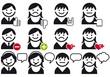 avatars, vector people icon set