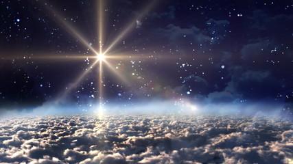space night blue star