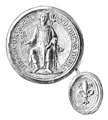 Seal against seal- employees by St. Louis to the first crusade,