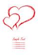 Valentinstag Grußkarte Zwei Herzen Liebesbrief