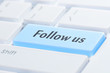 Follow us keyboard button