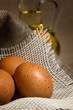 Easter eggs in sackcloth