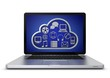 Laptop mit cloud