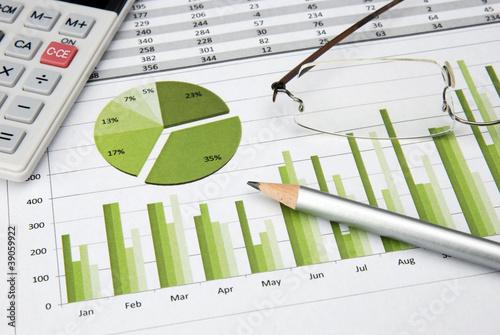 Business Chart green