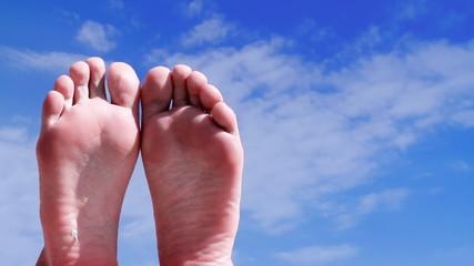 Relaxing woman feet