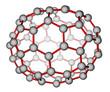 Fullerene C70 molecular structure