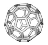 Fullerene C60 sticks molecular model