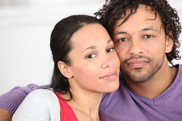 portrait of young coloured couple