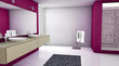 Bathroom Dark Pink