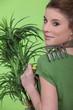 A female gardener.