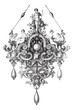 Pendant of Benvenuto Cellini vintage engraving