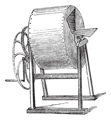 Wheel washing-machine vintage