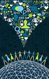Social media people around the world