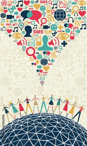 Social media people concept