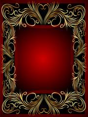 frame background with gold(en) vegetable ornament