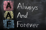 Acronym of AAF for Always and Forever poster