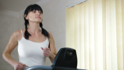 running on a treadmill