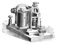 La figura. 10. Speaker. - Un marco, L, barra, M, electroimán, SS tornillos