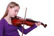 playing violine